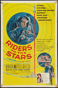 """Riders to the Stars (United Artists, 1954). One Sheet (27"""" X 41""""). Science Fiction"""