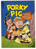 Golden Age (1938-1955):Cartoon Character, Four Color #182 Porky Pig (Dell, 1948) Condition: VF-....