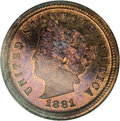 Patterns, 1881 1C Liberty Head One Cent, Judd-1666, Pollock-1866, High R.6,PR66 Red Cameo NGC....