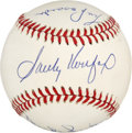 Autographs:Baseballs, Dodger Greats Multi-Signed Baseball. Trio of Dodgers legends isrepresented here with this collection of signatures on the ...