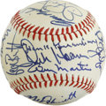 Autographs:Baseballs, 1981 New York Baseball Writers' Dinner Multi-Signed Baseball. Froma January 1981 dinner held by the New York chapter of th...