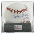 "Autographs:Baseballs, Steve Carlton ""HOF 94"" Single Signed Baseball PSA Mint+ 9.5.Lefty's perfect signature resides on the sweet spot of the OML..."