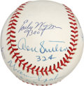 Autographs:Baseballs, 300 Win Club Baseball Signed by 8. One of the most exclusive clubs in baseball is represented with this excellent multi-sig...
