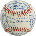 Autographs:Baseballs, 1986 New York Mets Old Timers Day Multi-Signed Baseball. SpecialNew York Mets Old Timers Day in 1986 celebrated the 25th a...