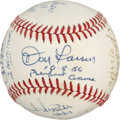 Autographs:Baseballs, No-Hit Club Baseball Signed by 8. A nice array of unhittable talenthas made its way to the OAL (Brown) orb seen here by wa...