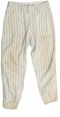 Baseball Collectibles:Others, 1970 Donn Clendenon Game Worn Pants. Tremendous example of thewhite game-worn pinstripe pants worn by the New York Mets fo...