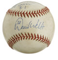 Autographs:Baseballs, 2000 Game Used Baseball Signed by David Wells. From the New YorkYankees' 2000 season we offer this fine game used orb bear...