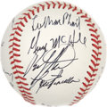 Autographs:Baseballs, 1986 New York Baseball Writers' Dinner Multi-Signed Baseball withOfficial Scorebook. Signed at the 1986 installment of the ...