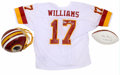 Football Collectibles:Balls, Doug Williams Signed Helmet, Jersey, Football and Oversized Photograph with Super Bowl XXII Program. In January 1988, Doug ...
