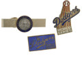 Baseball Collectibles:Pins, 1965-77 Press Pins lot of 3. The official World Series press pinsfrom 1965 and 1977 trips made to the Fall Classic by the...