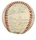 Autographs:Baseballs, 1951 St. Louis Cardinals Team Signed Baseball. A total of 23 signatures appear here courtesy of the 1951 St. Louis Cardinal...