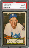 Baseball Cards:Singles (1950-1959), 1952 Topps Andy Pafko #1 PSA VG-EX 4....