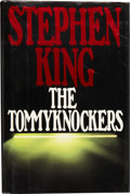 """Books:First Editions, Stephen King. The Tommyknockers. New York: G. P. Putnam'sSons, [1987]. First edition, """"Permissions to Come"""" on the ..."""