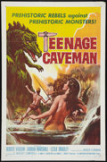 "Movie Posters:Science Fiction, Teenage Caveman (American International, 1958). One Sheet (27"" X41""). Science Fiction.. ..."