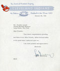 Baseball Collectibles:Others, 1956 Hank Greenberg Signed Letter....