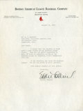 Baseball Collectibles:Others, 1935 Eddie Collins Signed Letter....