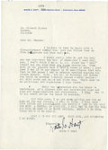 Baseball Collectibles:Others, Waite Hoyt Signed Letter....