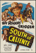 "Movie Posters:Western, South of Caliente (Republic, 1951). One Sheet (27"" X 41""). Western.. ..."