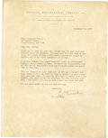 Baseball Collectibles:Others, 1956 Leo Durocher Signed Letter....