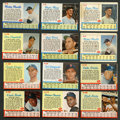 Baseball Cards:Sets, 1962 Post Cereal Baseball Complete Set (200) Plus Mantle & Maris Ad Cards....