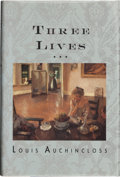 Books:Signed Editions, Louis Auchincloss. Three Lives. Boston New York London: Houghton Mifflin Company, 1993. First edition. Signed by t...
