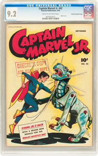 Captain Marvel Jr. #42 Crowley Copy/File Copy (Fawcett, 1946) CGC NM- 9.2 Cream to off-white pages