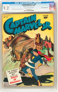 Captain Marvel Jr. #43 Crowley Copy/File Copy (Fawcett, 1946) CGC NM- 9.2 Cream to off-white pages