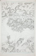 Original Comic Art:Panel Pages, Jack Kirby Super Powers #5 Batman and Robin page 4 PencilsOriginal Art (DC, 1986)....