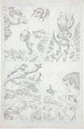 Original Comic Art:Panel Pages, Jack Kirby Super Powers #5 Batman and Robin page 5 PencilsOriginal Art (DC, 1986)....