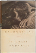 Books:First Editions, Michael Ondaatje. Handwriting. [London]: Bloomsbury, [1998].First edition. Publisher's original binding and dust ja...
