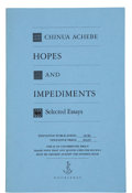Books:Signed Editions, Chinua Achebe. Hopes and Impediments, Selected Essays. New York: Doubleday, [1989]. Uncorrected proof. First America...