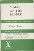 Books:Signed Editions, Chinua Achebe. A Man of the People. London: Heinemann, [1965]. Uncorrected proof. First edition. Signed by the aut...