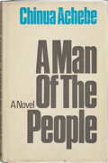 Books:Signed Editions, Chinua Achebe. A Man of the People. London: Heinemann, [1966]. First edition. Signed by the author. Publisher's ...