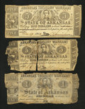 Obsoletes By State:Arkansas, Three (Little Rock), AR- Arkansas Treasury Warrants.. ... (Total: 3 notes)