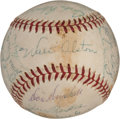 Autographs:Baseballs, 1956 Brooklyn Dodgers Team Signed Baseball....