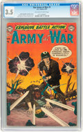 Golden Age (1938-1955):War, Our Army at War #1 (DC, 1952) CGC VG- 3.5 Off-white to whitepages....