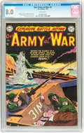 Golden Age (1938-1955):War, Our Army at War #6 (DC, 1953) CGC VF 8.0 White pages....