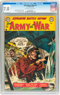 Golden Age (1938-1955):War, Our Army at War #9 (DC, 1953) CGC FN/VF 7.0 Off-white to whitepages....
