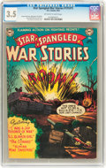 Golden Age (1938-1955):War, Star Spangled War Stories #131 (#1) (DC, 1952) CGC VG- 3.5Off-white to white pages....
