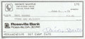 Autographs:Checks, 1979 Mickey Mantle Signed Check....