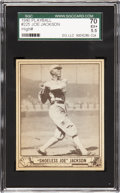 Baseball Cards:Singles (1940-1949), 1940 Play Ball Joe Jackson #225 SGC 70 EX+ 5.5. ...