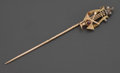 Silver & Vertu:Smalls & Jewelry, A RUSSIAN THREE COLORED GOLD, DIAMOND AND RUBY STICK PIN . Karl Faberge, St. Petersburg, Russia, circa 1908-1917. Feodor Afa... (Total: 2 Items)