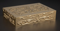 AN ENGLISH GOLD CIGAR BOX Asprey, London, England, 1997-1998 Marks: ASPREY, A ( in quatrefoil with