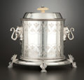 Silver Holloware, British:Holloware, A VICTORIAN SILVER PLATE BISCUIT BARREL . Probably Sheffield,England, circa 1870. Unmarked. 7-3/4 x 8-3/4 inches diameter (...