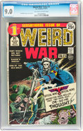 Bronze Age (1970-1979):War, Weird War Tales #1 (DC, 1971) CGC VF/NM 9.0 Off-white to white pages....