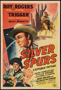 """Movie Posters:Western, Silver Spurs (Republic, 1943). One Sheet (27"""" X 41""""). Western.. ..."""