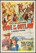 """Movie Posters:Western, Code of the Outlaw (Republic, 1942). One Sheet (27"""" X 41"""").Western.. ..."""