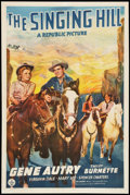 "Movie Posters:Western, The Singing Hill (Republic, 1941). One Sheet (27"" X 41""). Western....."