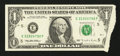 Error Notes:Foldovers, Fr. 1921-E $1 1995 Federal Reserve Note. Very Fine.. ...