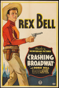 "Crashing Broadway (Monogram, 1932). One Sheet (26"" X 40""). Western"